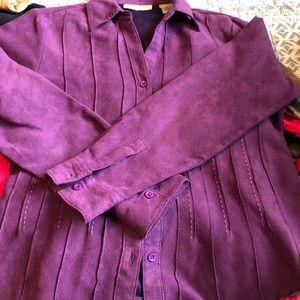 Tops - Lemon grass petite purple long sleeve shirt